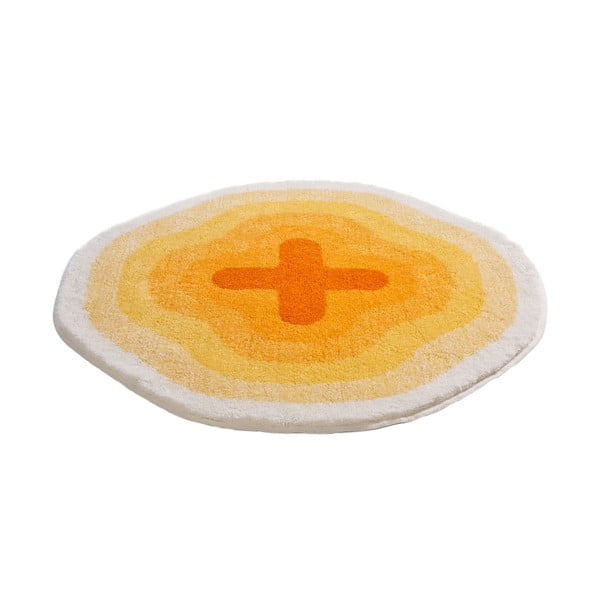Dywanik łazienkowy Kolor My World III 90 cm, żółty