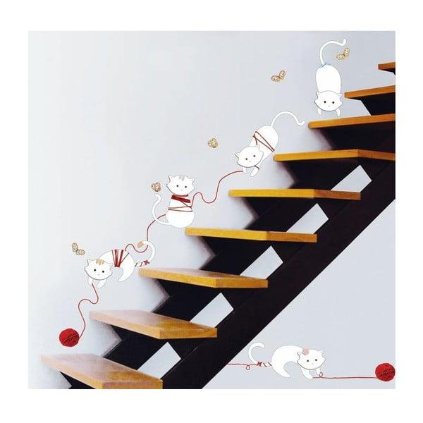 Naklejka Ambiance Cats and balls, 30 cm