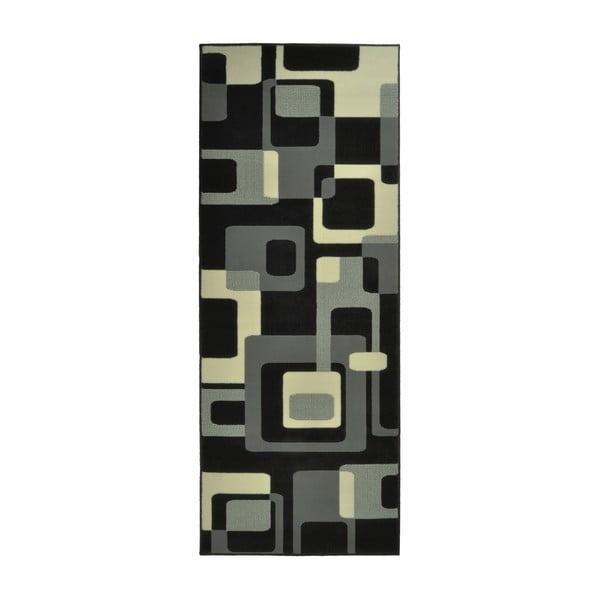 Dywan Hamla Retro, 80x300 cm, czarny