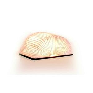 Ciemnobrązowa lampa stołowa LED w kształcie książki Gingko Standard