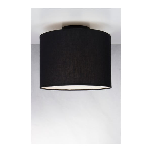 Czarna lampa sufitowa Sotto Luce MIKA, Ø 25 cm