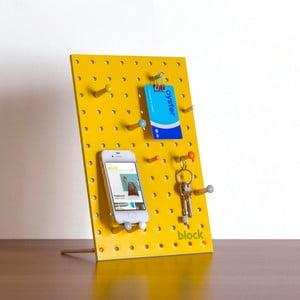 Wielofunkcyjna tablica Pegboard 30x20 cm, żółta