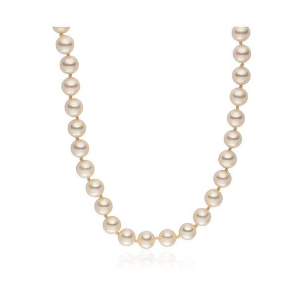 Jasnożółty   naszyjnik z pereł Pearls Of London Mystic, 50 cm