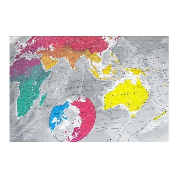 Magnetyczna mapa świata The Future Mapping Company Colour World Map, 130x72 cm