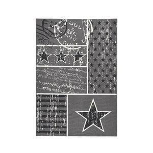 Dywan City & Mix - szary z gwiazdami, 140x200 cm