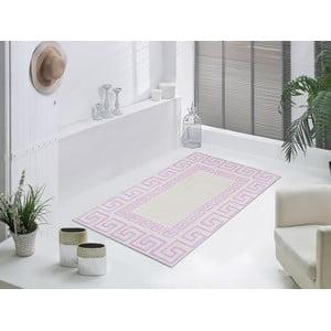 Liliowy wytrzymały dywan Versace, 80x150 cm