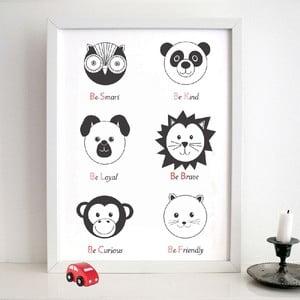 Plakat Nursery Black, 30x40 cm