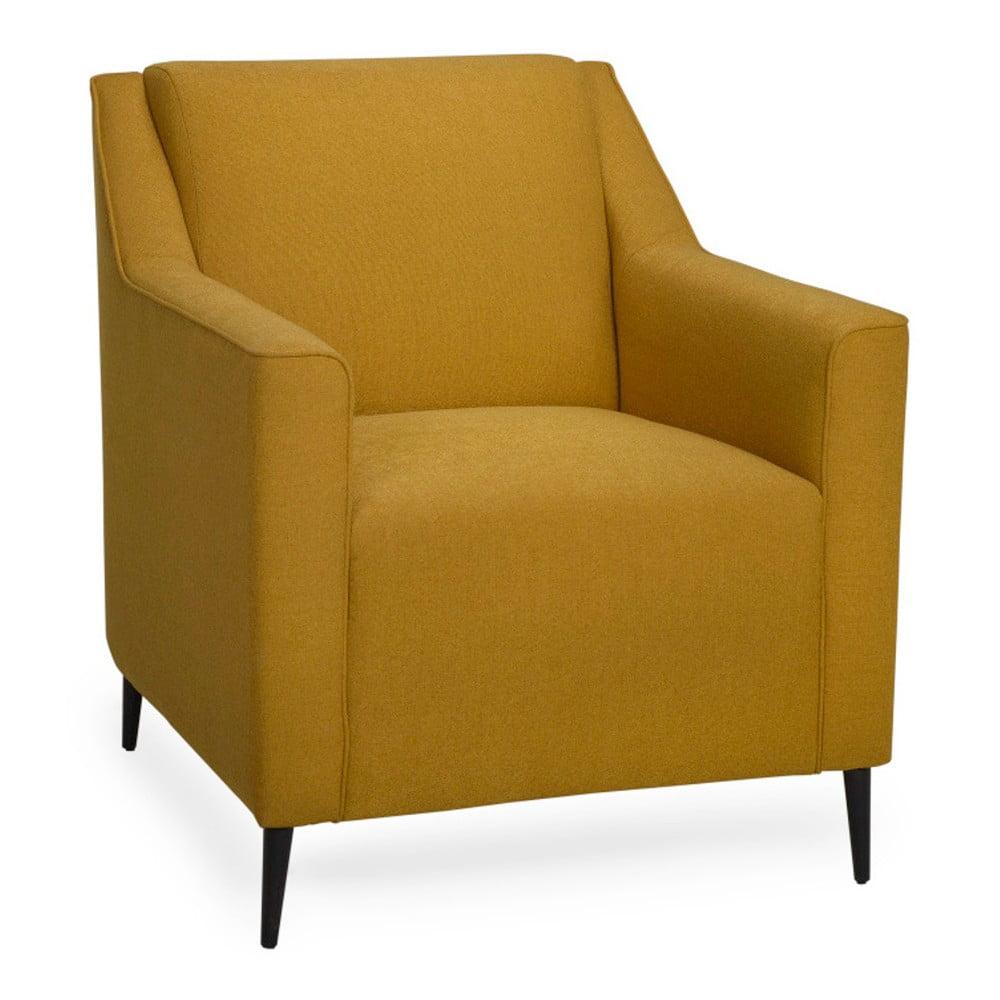 Musztardowy fotel Softnord Basel