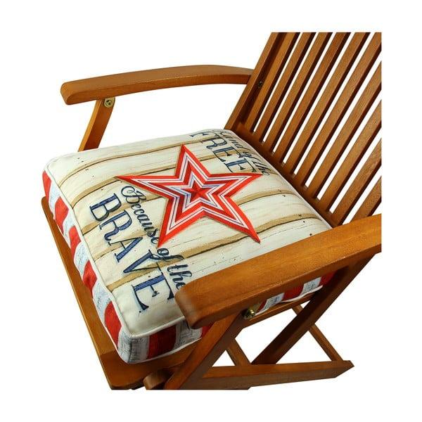 Poduszka na krzesło z wypełnieniem Sea Star, 42x42 cm