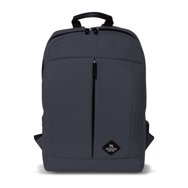 Antracytowy plecak z portem USB My Valice GALAXY Smart Bag