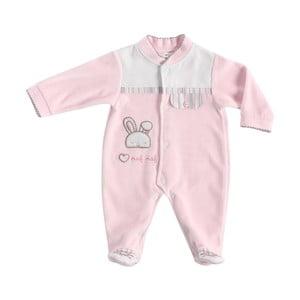 Różowa piżama dla noworodków Naf Naf Rabbit