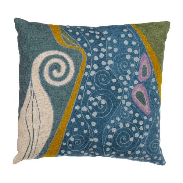 Poszewka na poduszkę Klimt Peacock Swirls, 45x45 cm
