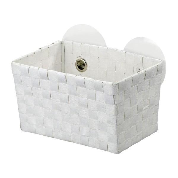 Biały koszyk z przyssawkami Wenko Fermo