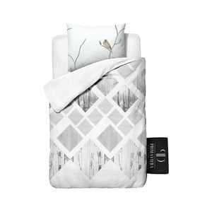 Pościel z kory Dreamhouse Lanscape White, 140x220 cm