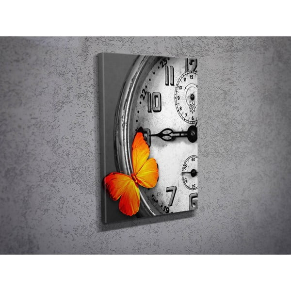 Obraz Clock and Butterfly, 30x40 cm