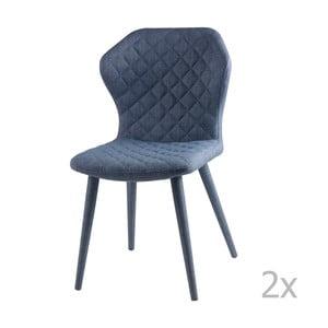 Zestaw 2 niebieskich krzeseł sømcasa Avery