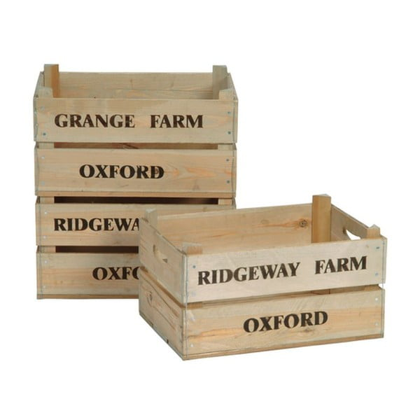 Zestaw 3 skrzynek Garden Trading Wooden Fruit Boxes