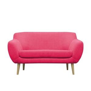 Różowa sofa dwuosobowa Mazzini Sofas Sardaigne