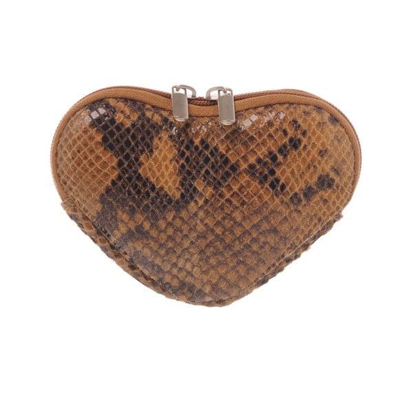 Skórzana portmonetka Heart Brown