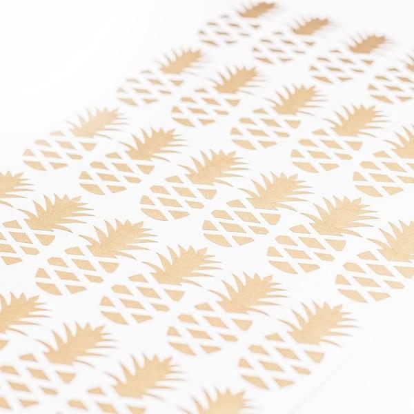Naklejka naścienna Ananas Gold, 36 sztuk