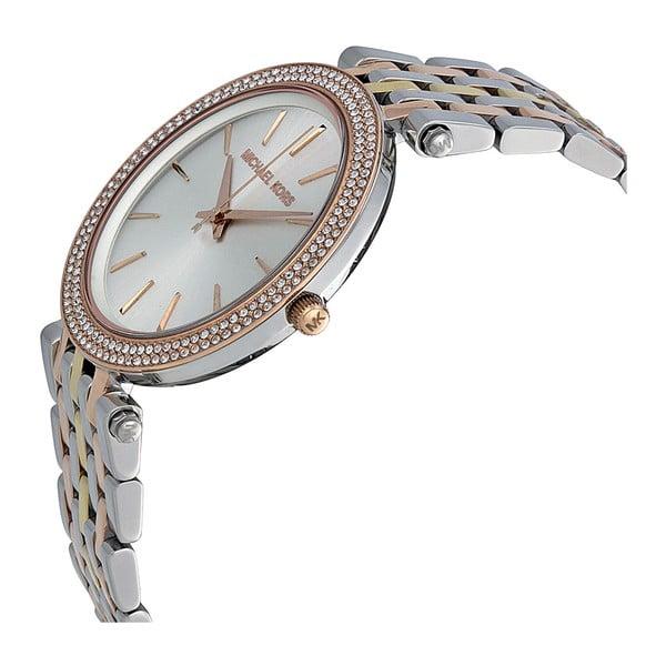 Zegarek damski w kolorze srebra z elementami w kolorze różowego złota Michael Kors Darci