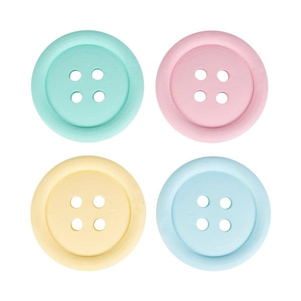 Zestaw 4 podstawek Sass & Belle Buttons