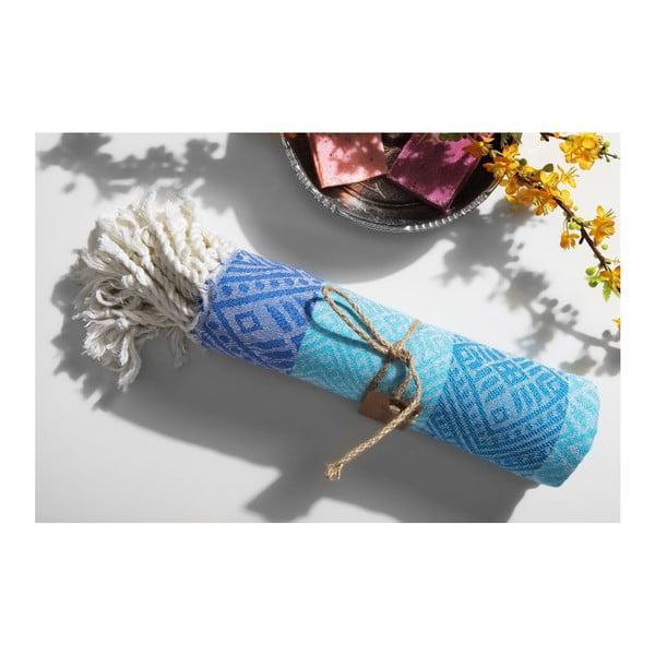 Ręcznik hamam Sunrise Blue Turquoise, 105x175 cm