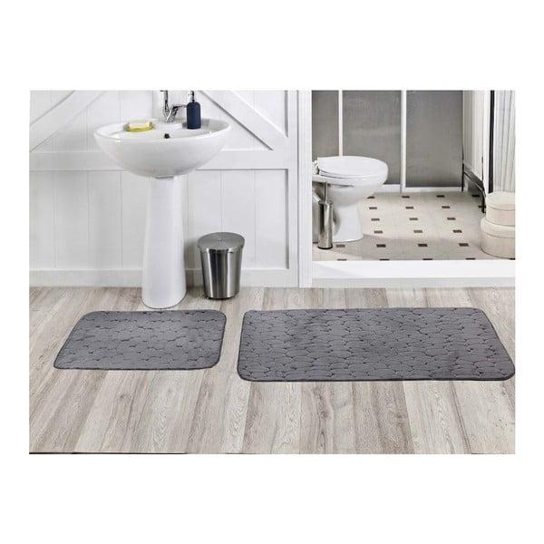 Zestaw 2 dywaników łazienkowych Milas Gri, 50x60 cm + 60x100 cm