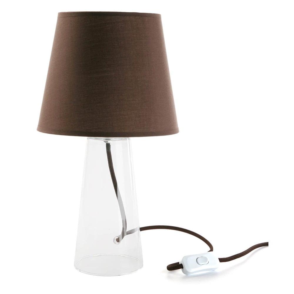 Brązowa szklana lampa stołowa Versa Bobby, ø 21,5 cm