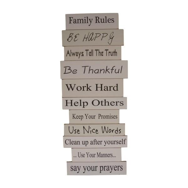 Tablica dekoracyjna Keep Family Rules