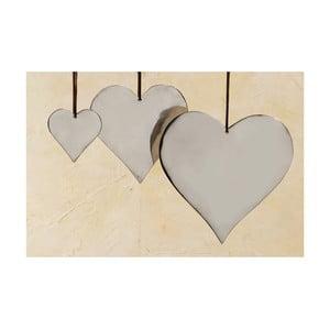 Zestaw 3 wiszących serc Boltze Heart Plain