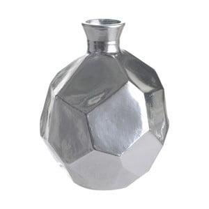 Wazon szklany Polygon, 18 cm, srebrny