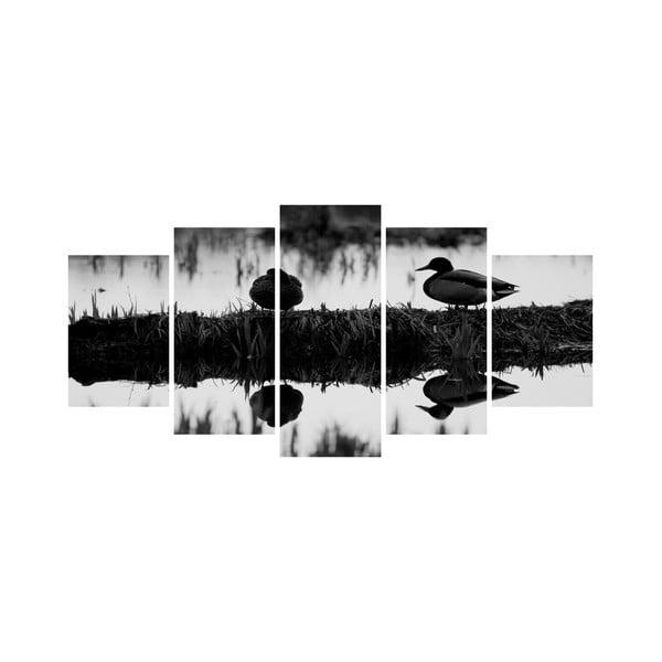 Wieloczęściowy obraz Black&White no. 87, 100x50 cm