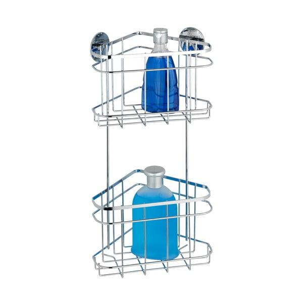 Półka narożna 2-poziomowa z przyssawkami Wenko Turbo-Loc, do 40 kg