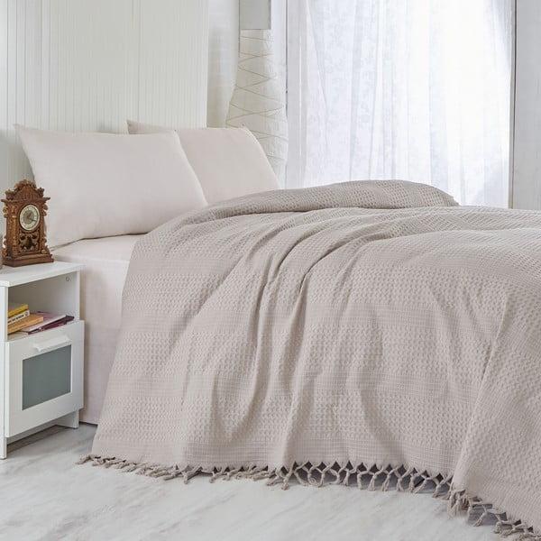 Brązowa lekka narzuta na łóżko Brown, 220x240 cm