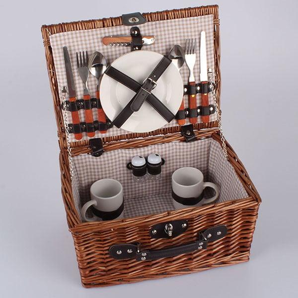 Kosz piknikowy z wyposażeniem (dla 2 os.) London