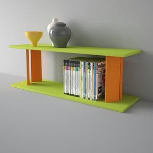 Półka Replay 110x39 cm, pomarańczowo-zielona