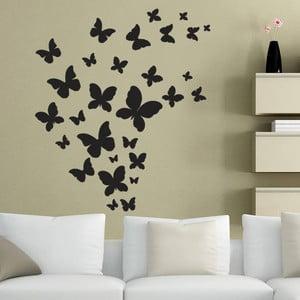 Naklejka dekoracyjna na ścianę Czarne motyle