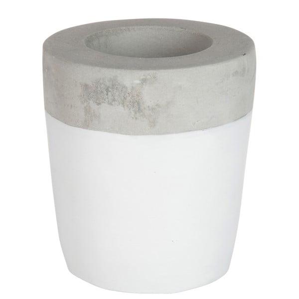 Świecznik Cement White