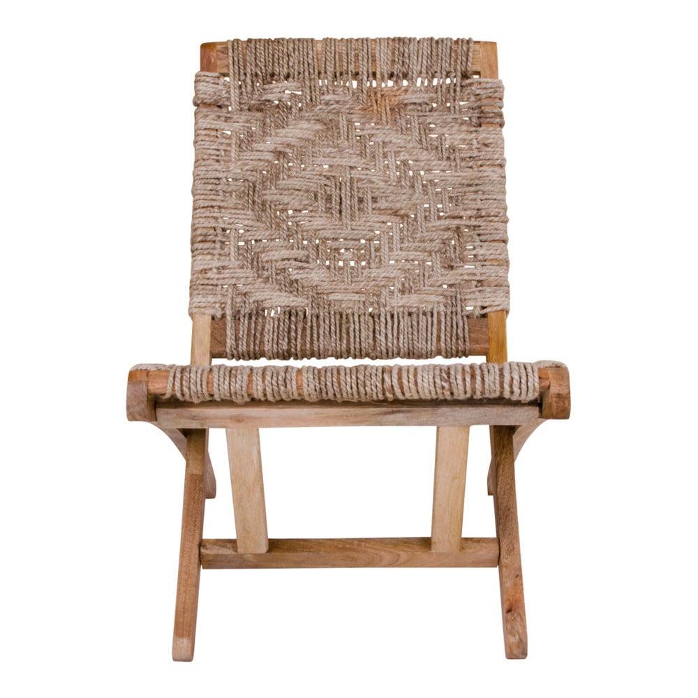 W Mega Krzesło składane z drewna mango House Nordic Gaya | Bonami TS24