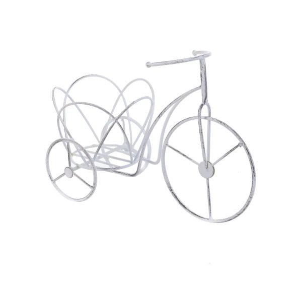 Metalowy stojak na kwiaty InArt Bike, biały