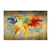 Obraz Homemania Maps World Drops, 70x100 cm