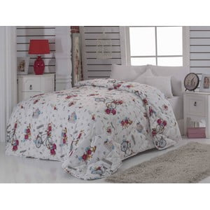 Narzuta pikowana na łóżko dwuosobowe Rosie White, 195x215 cm