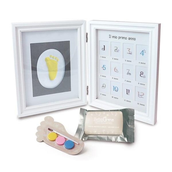 Ramka na odcisk dziecięcej rączki z 12 ramkami na zdjęcia i farbami Clay Frame