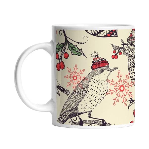 Ceramiczny kubek Winter Birds, 330 ml