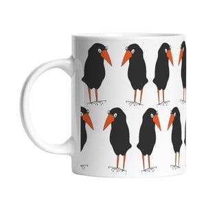 Ceramiczny kubek Black Birds, 330 ml