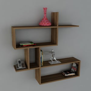 Półka Montera Book Walnut, 22x100x107,2 cm