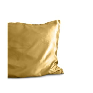 Poszewka na poduszkę z mikroperkalu w złotym kolorze Sleeptime Skin Care, 60x70 cm