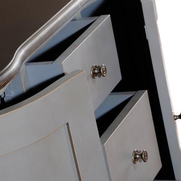 Komoda z 3 szufladami i 2 parami drzwiczek Belgique Grey