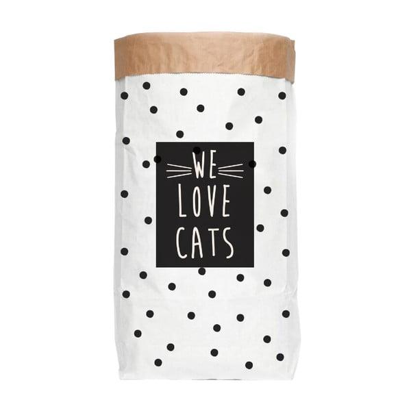 Torba papierowa z recyklingu Really Nice Things Love Cats